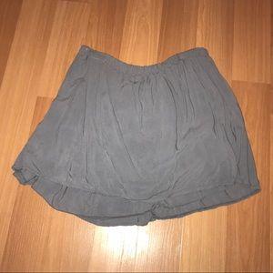 Brandy Melville Gray Skater Skirt